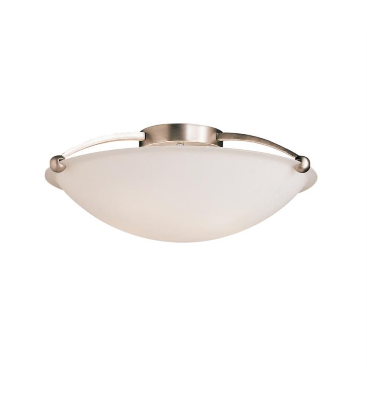 Kichler 8407NI 5 Bulb Incandescent Semi-Flush Mount Ceiling Light with Bowl Shaped Glass Shade
