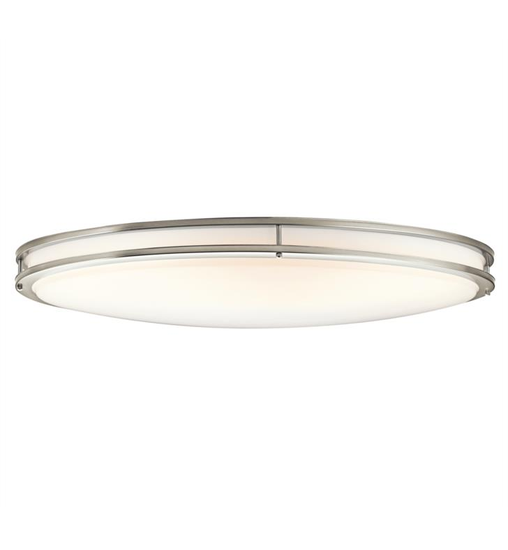 Kichler 10879OZ Verve 2 Light Fluorescent Ceiling Flush Mount Ceiling Light with Oval Shaped Glass Shade With Finish: Olde Bronze