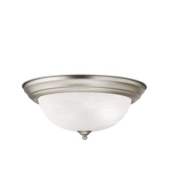 "Kichler 8109 2 Light 13 1/4"" Incandescent Flush Mount Ceiling Light with Dome Shaped Glass Shade"
