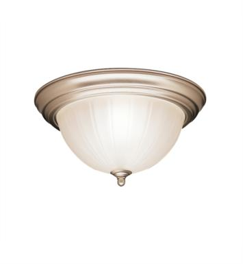 "Kichler 8654SC 2 Light 13 1/4"" Incandescent Flush Mount Ceiling Light with Bowl Shaped Glass Shade With Finish: Stucco White"