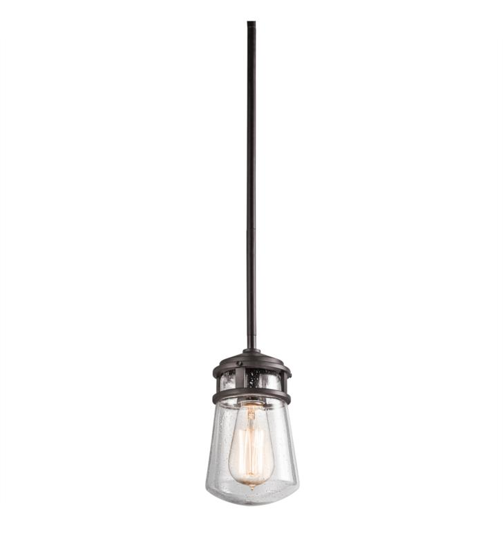"Kichler 49446AZ Lyndon 1 Light 5"" Incandescent Outdoor Hanging Pendant With Finish: Architectural Bronze"