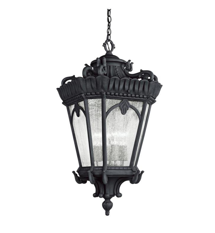 Kichler 9564BKT Tournai 4 Light Incandescent Outdoor Hanging Pendant With Finish: Textured Black