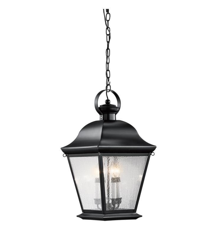 Kichler 9804BK Mount Vernon 4 Light Outdoor Hanging Pendant With Finish: Black