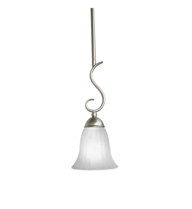 Kichler 3427TZ Willowmore 1 Light Incandescent Mini Pendant with Bell Shaped Glass Shade With Finish: Tannery Bronze