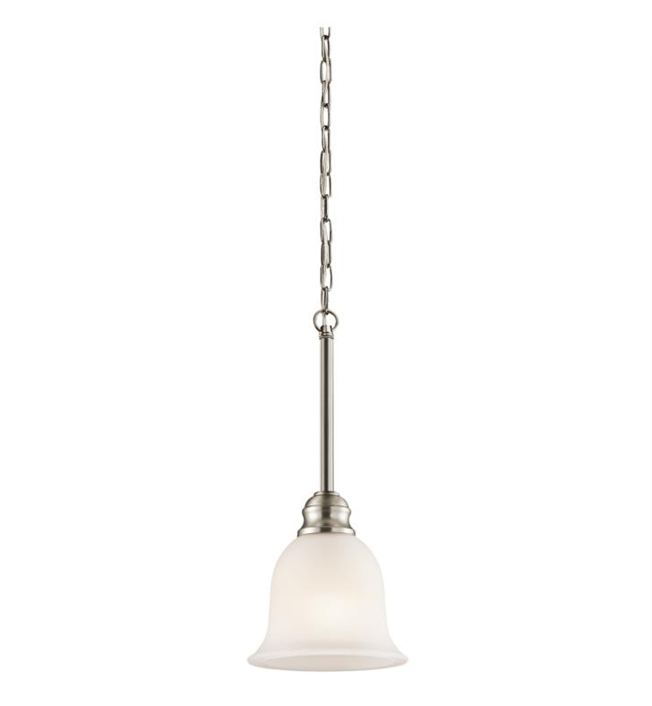 Kichler 42901OZ Tanglewood 1 Light Incandescent Mini Pendant with Bell Shaped Glass Shade With Finish: Olde Bronze