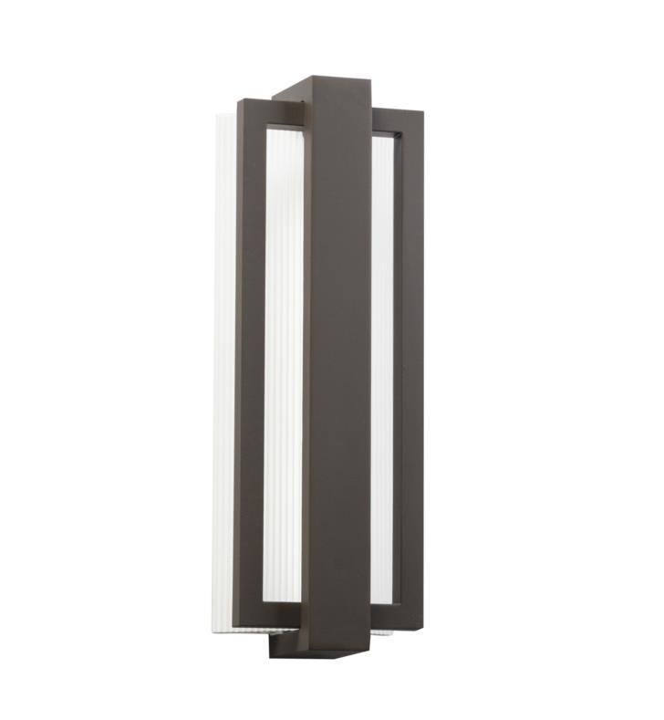 "Kichler 49434SBK Sedo 1 Light 18 1/4"" LED Outdoor Wall Sconce With Finish: Satin Black"