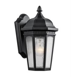 "Kichler 9032 Courtyard 1 Light 6 1/4"" Incandescent Outdoor Wall Sconce with Lantern Shaped Glass Shade"