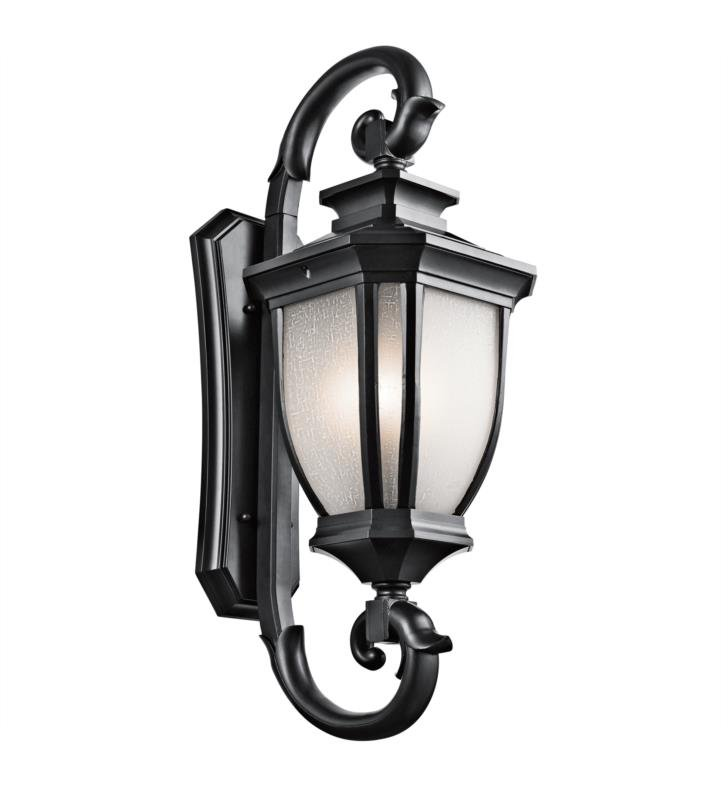 "Kichler 9099RZ Salisbury 4 Light 15"" Incandescent Outdoor Wall Sconce with Lantern Shaped Glass Shade With Finish: Rubbed Bronze"
