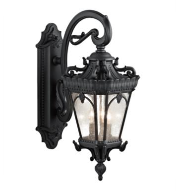 "Kichler 9358BKT Tournai 3 Light 11 3/4"" Incandescent Outdoor Wall Sconce with Lantern Shaped Glass Shade With Finish: Textured Black"
