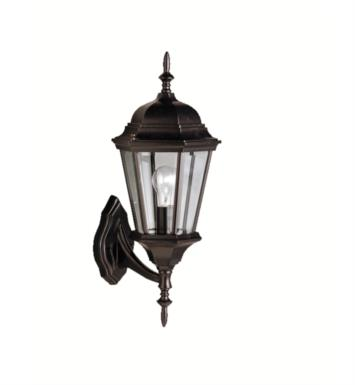 "Kichler 9653 Madison 1 Light 19 3/4"" Incandescent Outdoor Wall Sconce with Lantern Shaped Glass Shade"