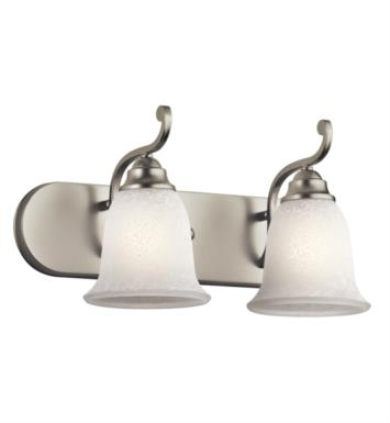 "Kichler 45422NI Camerena 2 Light 18"" Incandescent Wall Mount Bath Light with Bowl Shaped Glass Shade With Finish: Brushed Nickel"