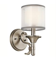 "Kichler 45281 Lacey 1 Light 5"" Incandescent Wall Sconce with Drum Shaped Glass Shade"