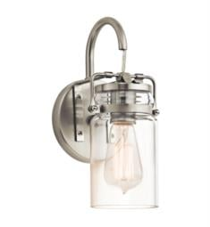 "Kichler 45576 Brinley 1 Light 5"" Incandescent Wall Sconce with Cylinder Shaped Glass Shade"