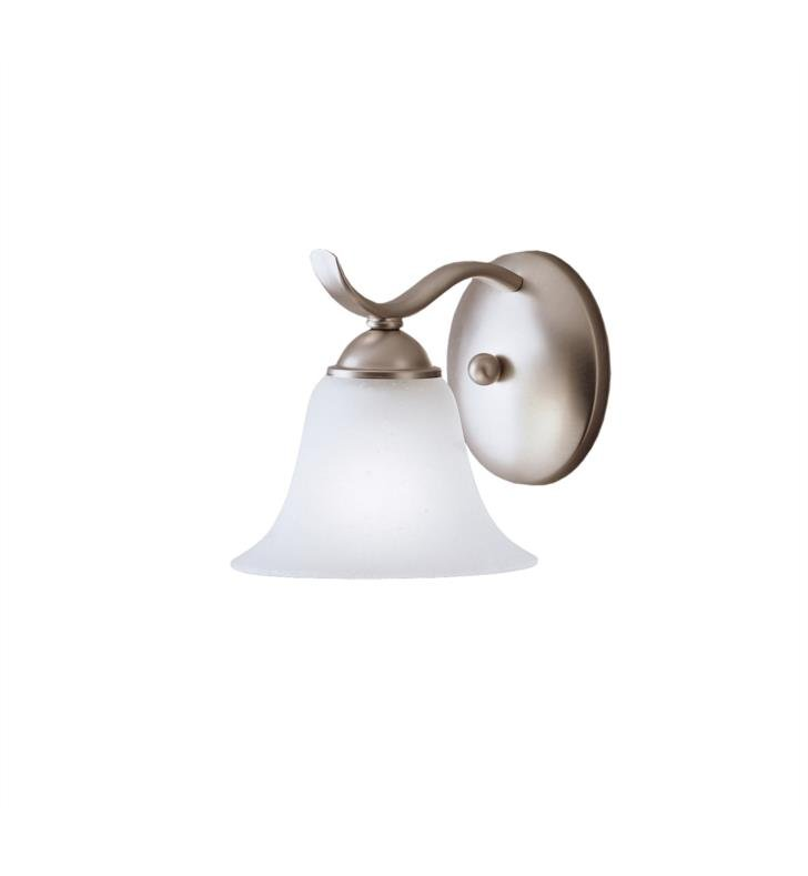 "Kichler 6719NI Dover 1 Light 6 1/4"" Incandescent Wall Sconce with Bell Shaped Glass Shade With Finish: Brushed Nickel"