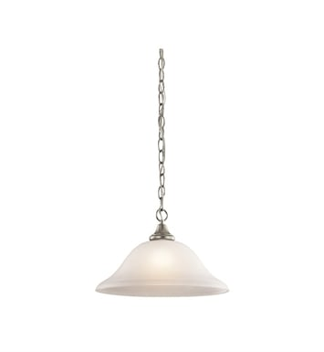 Kichler 43172NI Monroe Collection Pendant 1 Light in Brushed Nickel