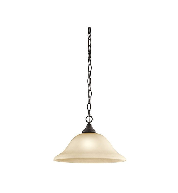 Kichler 43172OZ Monroe Collection Pendant 1 Light in Olde Bronze