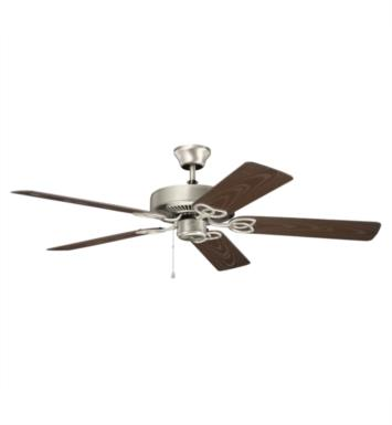 "Kichler 401NI Basics Patio 5 Blades 52"" Indoor Ceiling Fan With Finish: Brushed Nickel"