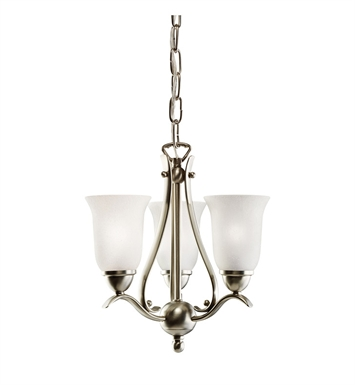 Kichler 1731NI Dover Collection Pendalette 3 Light in Brushed Nickel