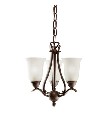 Kichler 1731TZ Dover Collection Pendalette 3 Light in Tannery Bronze