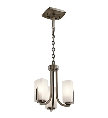 Kichler 42424SWZ Pendalette 3 Light in Shadow Bronze