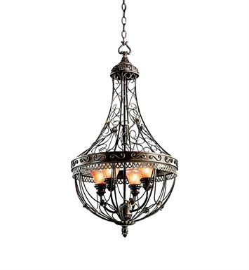 Kichler 42230TRZ Foyer Cage 4 Light in Terrene Bronze