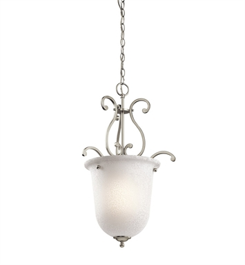 Kichler 43228NI Camerena Collection Foyer Pendant 1 Light in Brushed Nickel
