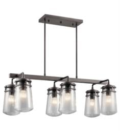 "Kichler 49835 Lyndon 6 Light 17"" Incandescent Outdoor Linear Chandelier in Architectural Bronze"