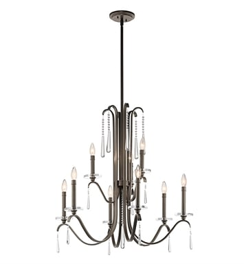 Kichler 43289OZ Tara Collection Chandelier 9 Light in Olde Bronze