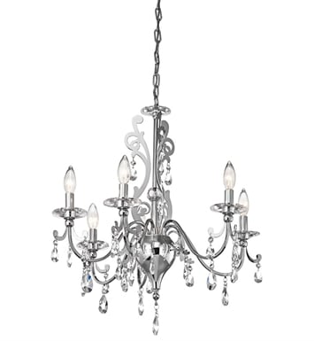 Kichler 42339CH Rizzo Collection Chandelier 6 Light in Chrome