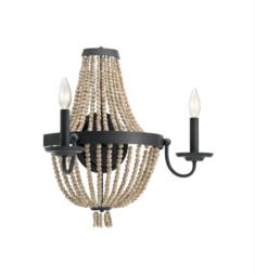 "Kichler 43894DBK Brisbane 2 Light 18 1/4"" Incandescent Wall Sconce in Distressed Black"