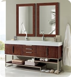 "James Martin 388-V72D Columbia 72"" Double Bathroom Vanity with Soft Close Hinges"