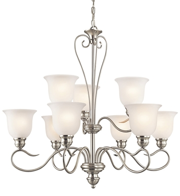Kichler 42907NI Tanglewood Collection Chandelier 9 Light With Finish: Brushed Nickel