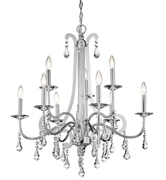 Kichler 42546CH Leanora Collection Chandelier 9 Light in Chrome