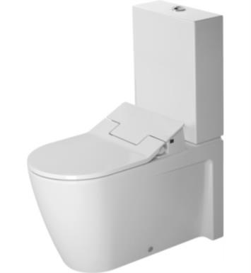 "Duravit 2129590092 Starck 2 28 3/8"" Dual Flush Two-Piece Floor Mounted Close Coupled Elongated Toilet in White Finish With Finish: White Alpin And WonderGliss Surface Finish: Without WonderGliss"