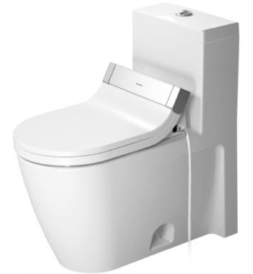 Duravit 2133010005 Starck 2 Single Flush One-Piece Floor Mounted Elongated Toilet in White Finish With Finish: White Alpin And WonderGliss Surface Finish: Without WonderGliss