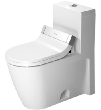 "Duravit 2133510005 Starck 2 28 1/8"" Single Flush One-Piece Floor Mounted Elongated Toilet in White Finish With Finish: White Alpin And WonderGliss Surface Finish: Without WonderGliss"