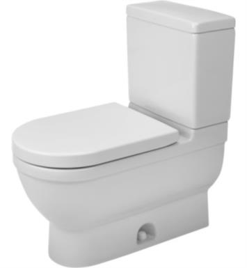 Duravit 2125010000 Starck 3 Single Flush Two-Piece Floor Mounted Elongated Toilet in White Finish With Finish: White Alpin And WonderGliss Surface Finish: Without WonderGliss