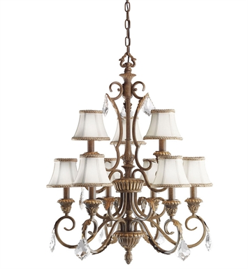 Kichler 2441RVN Ravenna Collection Chandelier 9 Light in Ravenna