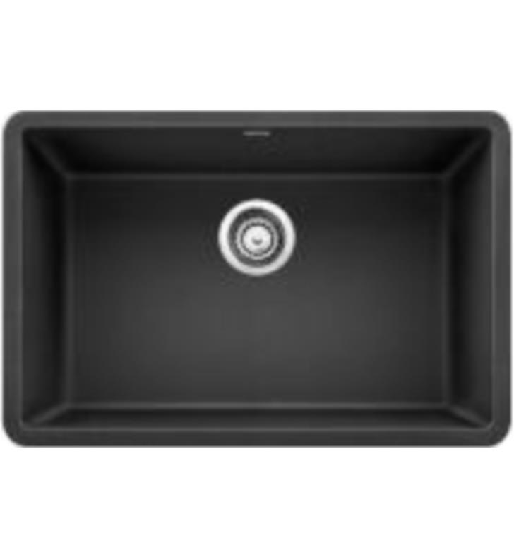 "Blanco 522259 Precis 26 7/8"" Single Bowl Undermount Silgranit Kitchen Sink in Anthracite"