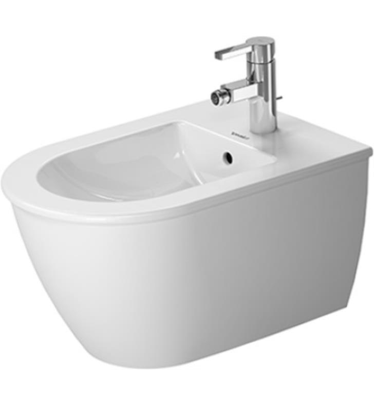 Duravit 2249150000 Darling New Single Hole Wall Mount Bidet in White Finish With WonderGliss Surface Finish: Without WonderGliss