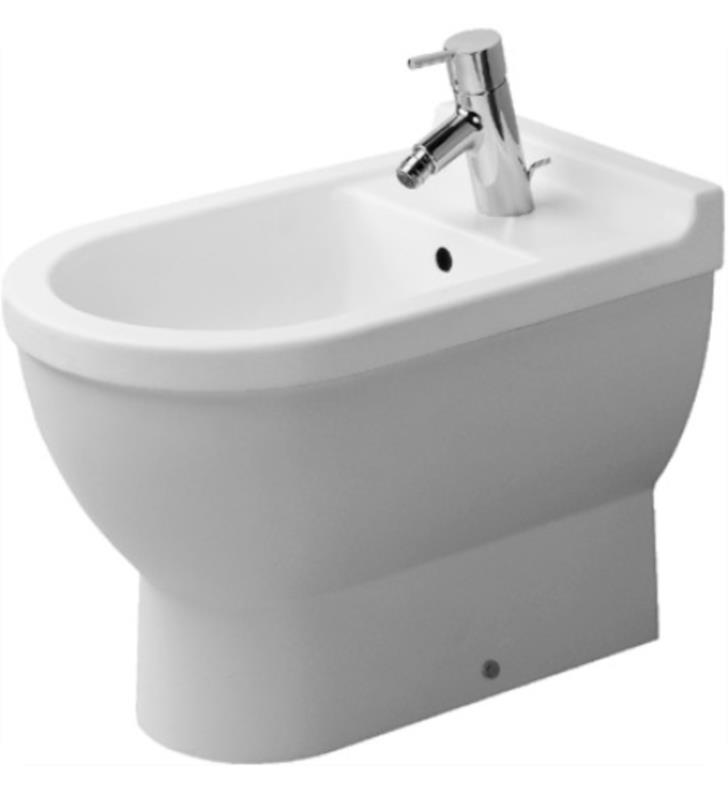 Duravit 2230100000 Starck 3 Single Hole Floor Standing Bidet in White Finish With WonderGliss Surface Finish: Without WonderGliss