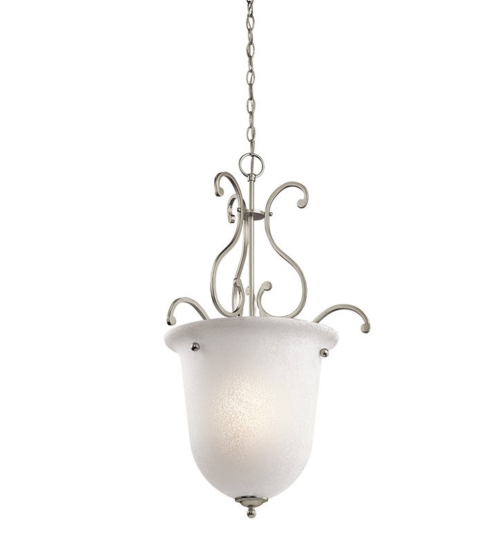 Kichler 43229NI Camerena Collection Chandelier Foyer 1 Light in Brushed Nickel