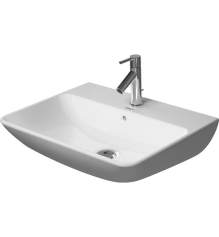 Duravit 0719450000 White Me By Starck 17 3 4 Ceramic Wall Mounted Bathroom Sink With Single Faucet Hole And Overflow Com