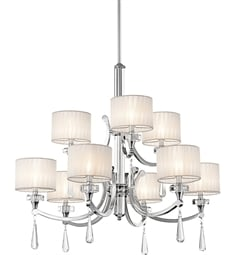Kichler 42633CH Parker Point Collection Chandelier 9 Light in Chrome
