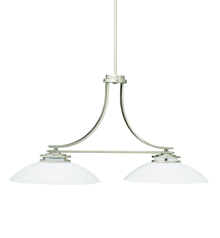 Kichler 3875NI Hendrik Collection Chandelier Island 2 Light in Brushed Nickel