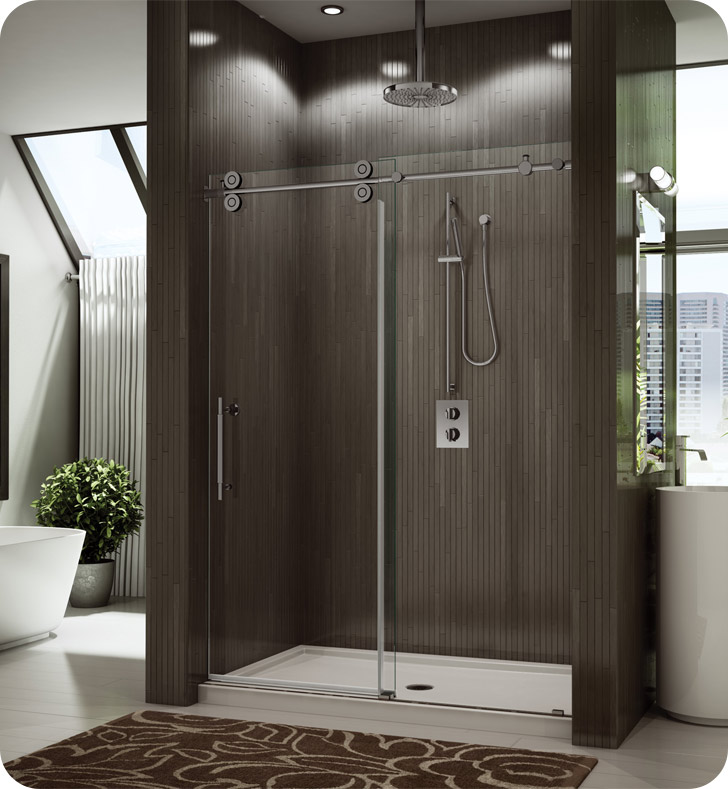 "Fleurco KT59-11-40L-BH Kinetik in Line Door and Panel (One Sided) With Dimensions: Width: 59"" to 61"" 