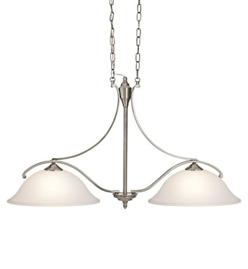 Kichler 43407CLP Wellington Square Collection Chandelier Island 2 Light in Classic Pewter