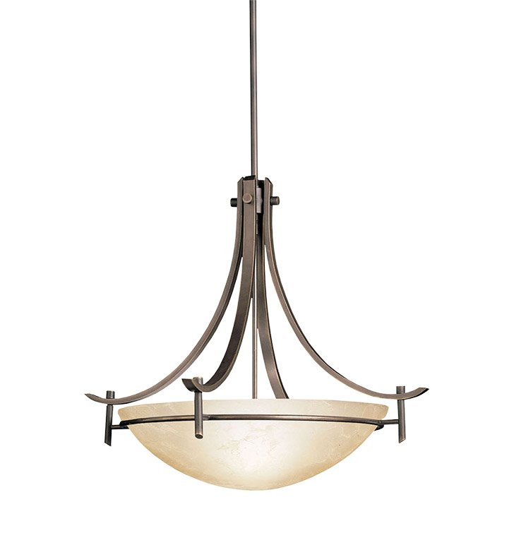 Kichler 3278OZ Olympia Collection Inverted Pendant 3 Light in Olde Bronze