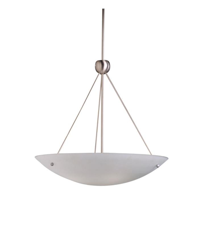 Kichler 2754NI Family Space 4 Light Incandescent Medium Inverted Pendant in Brushed Nickel