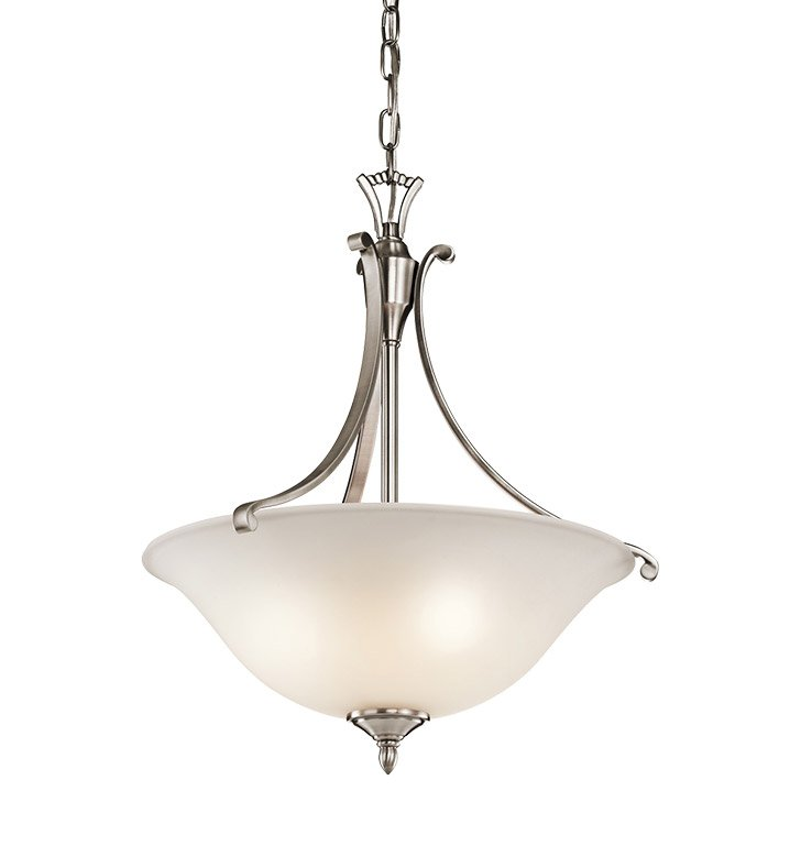 Kichler 43405CLP Wellington Square Collection Inverted Pendant 1 Light in Classic Pewter